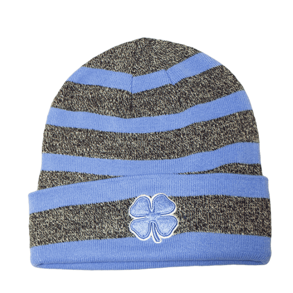 Black Clover Baby Blue and Grey Striped Beanie