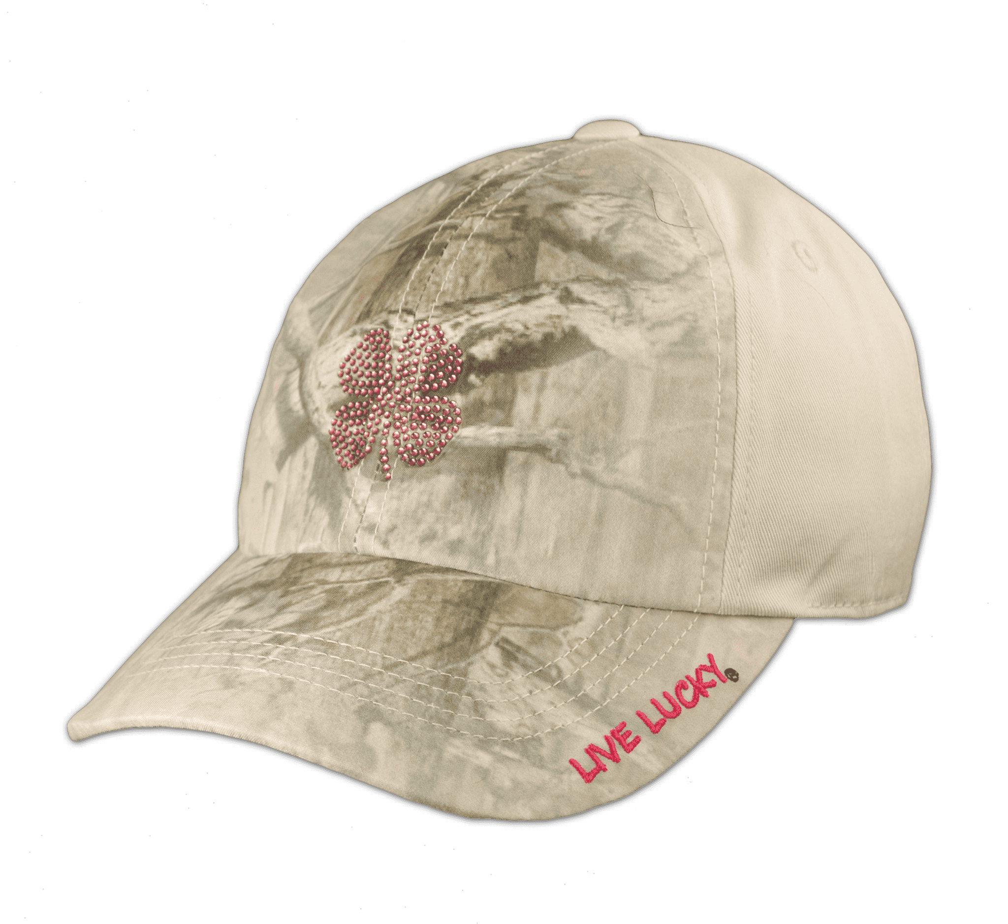 Black Clover Breast Cancer Camo Hat front view
