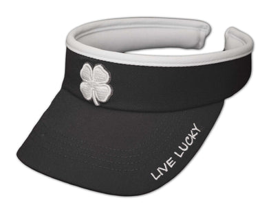 Black Clover Lady Luck Visor White Clover in Black Alt