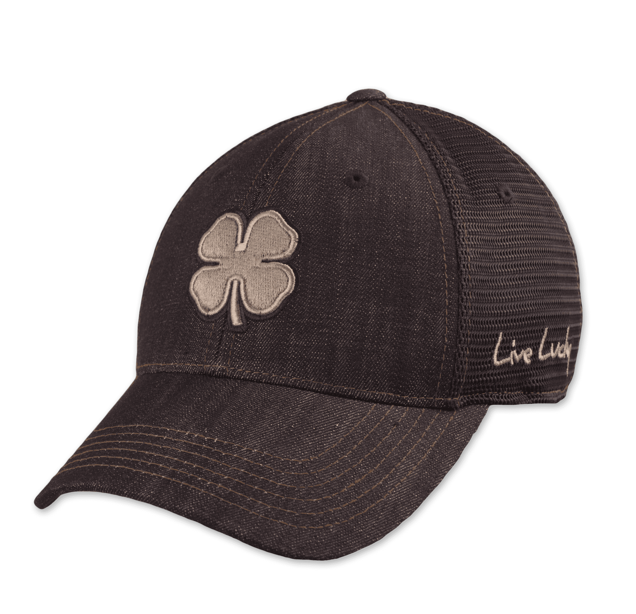 Black Clover Denim Baseball Cap front view