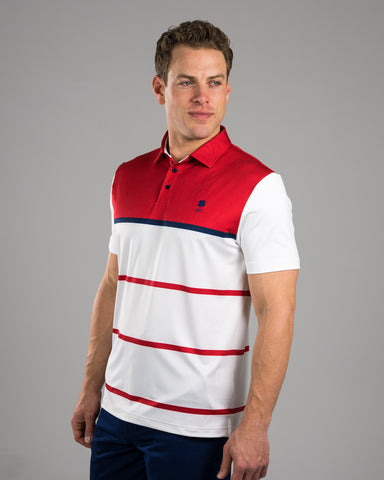 Stripes Red Polo