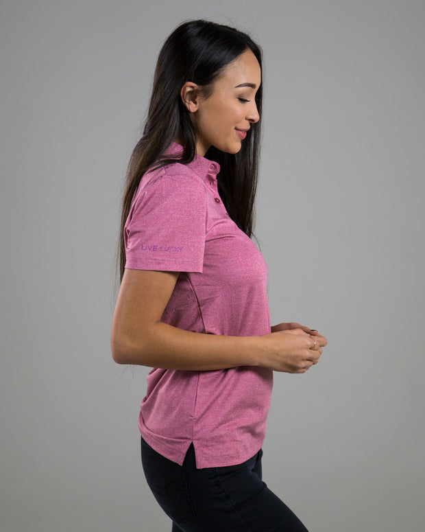 Ladies Fortune Polo - Pink
