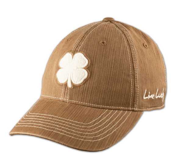 Black Clover Light Brown Baseball Cap front view