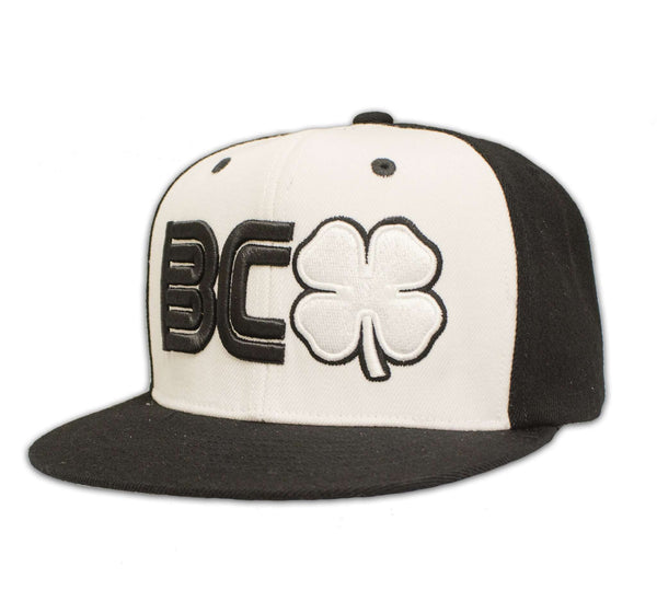 Black Clover Black and White Flat Brim Hat front side view