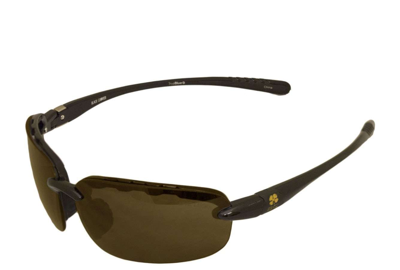Black Clover Good Luck Sun Glasses Black and Smoke Rap Around