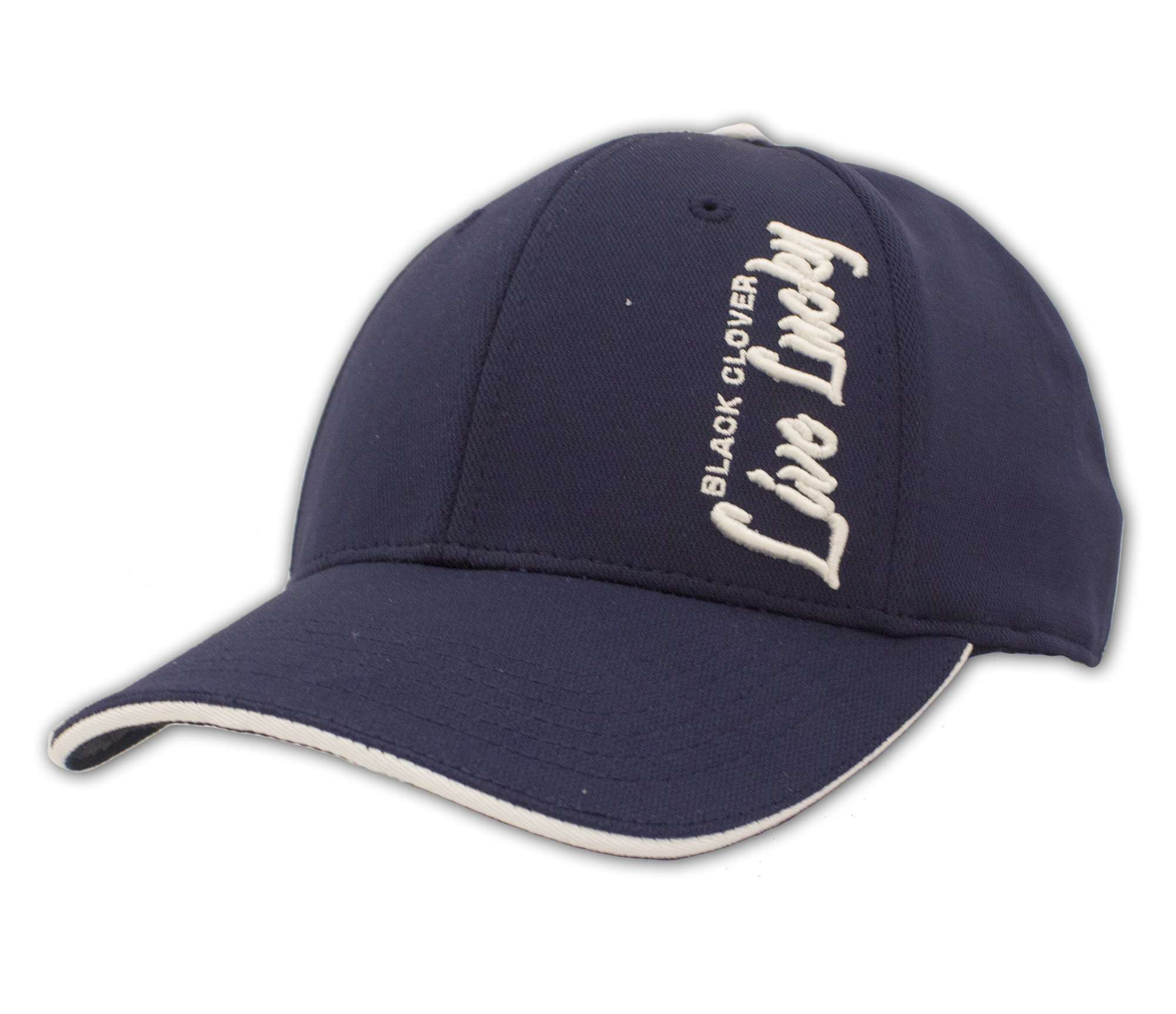 Black Clover Navy and White Baseball Hat front