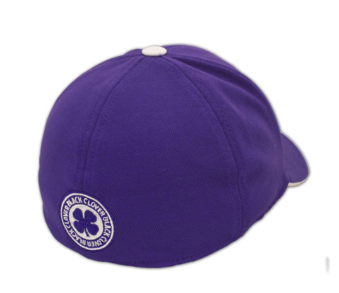 Black Clover Purple Baseball Hat back view