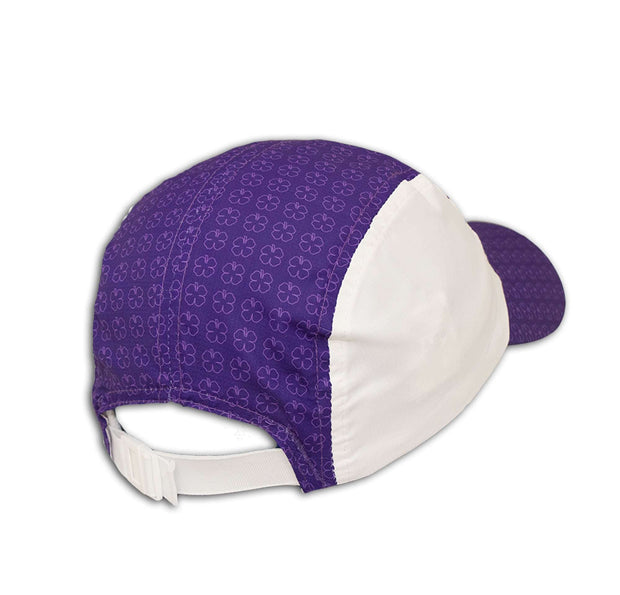 Black Clover Purple Running Cap back view
