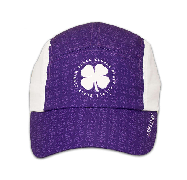 Black Clover Purple Running Cap front view