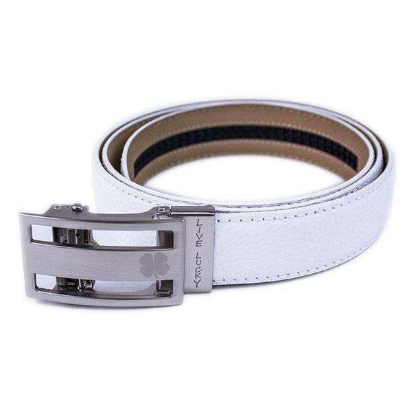 Lucky Belt: White