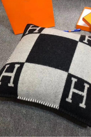 """H"" Throw Pillow Cover"