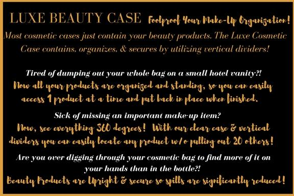 Luxe Beauty Case- Clear Color is Pre-Order May 30th