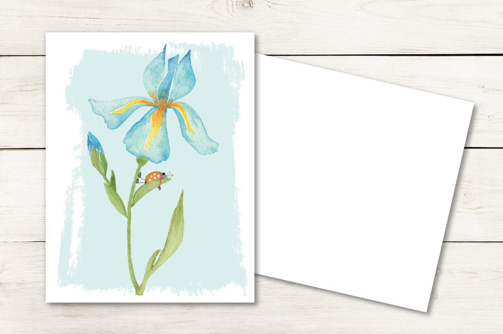 Ladybug on Iris :: Enchanted Garden Collection