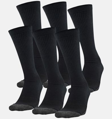 Under Armour Performance Tech Black Crew Socks U6785C6