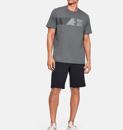 Under Armour Fast Left Chest Tee - Pitch Grey - 1329584 013