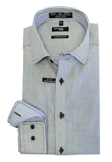 Leo Chevalier Fitted 100% Cotton Non-Iron Spread Collar - 524167 0998