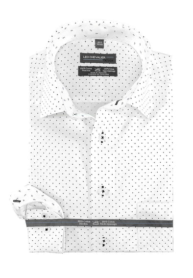 Leo Chevalier 100% Cotton No Iron Spread Collar - 524169 0999