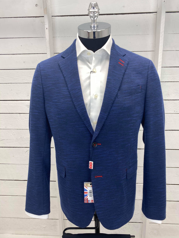 7 Downie Street Sports Coat Navy Blue Fitz