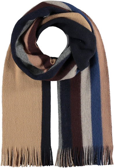Fraas Striped scarf in wool blend - Camel - 628174 180