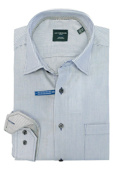 Leo Chevalier 100% Cotton No Iron Spread Collar Tall Fit - 524177QT 1637