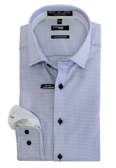 Leo Chevalier Fitted 100% Cotton Non-Iron Spread Collar - 524166 1698