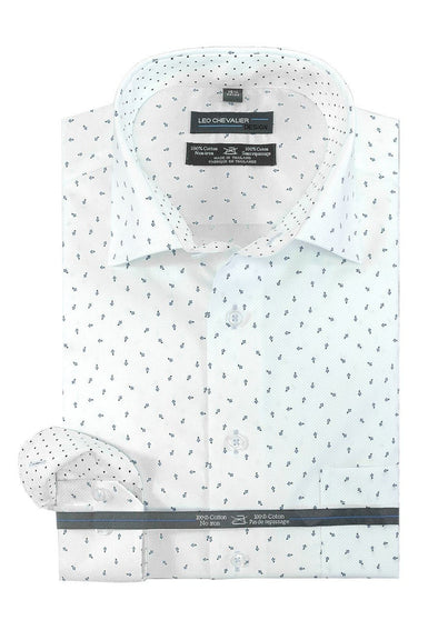 Leo Chevalier 100% Cotton No Iron Spread Collar Tall Fit - 524171QT 1737