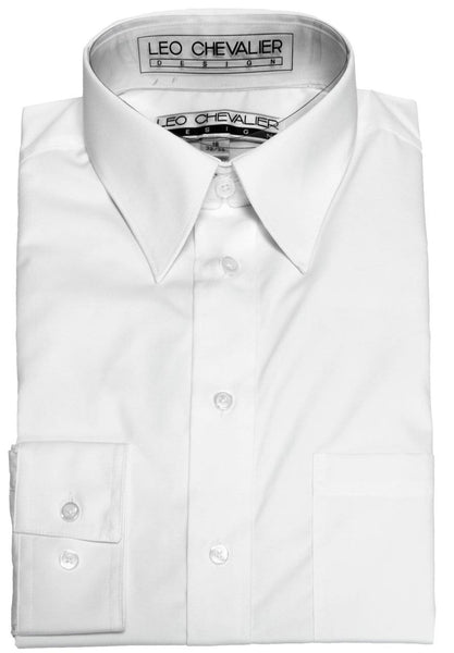 Leo Chevalier Dress Shirt - White Cotton-Poly