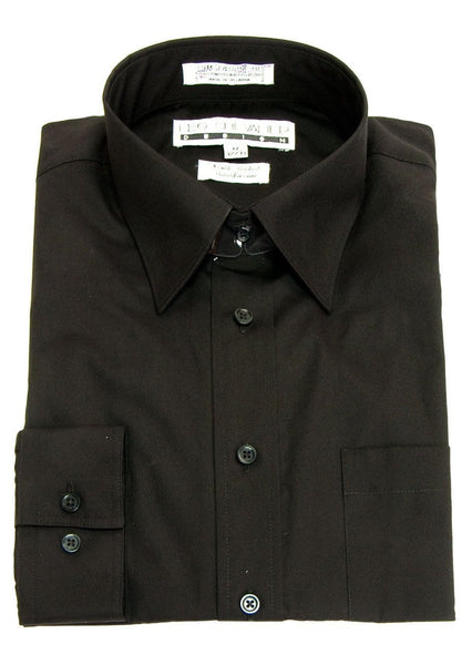 Black Solid Dress Shirt - Leo Chevalier 225103
