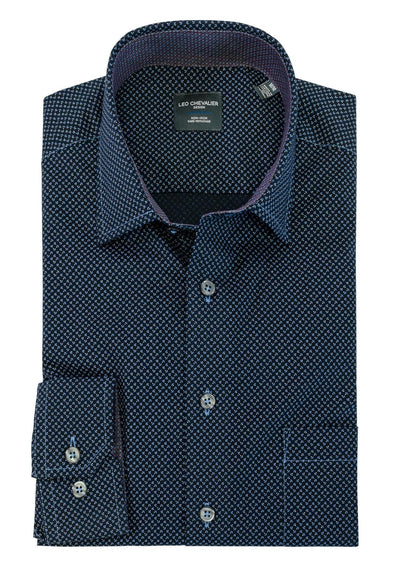 Leo Chevalier L/S Non-Iron Spread Collar Sport Shirt - 525464 1998