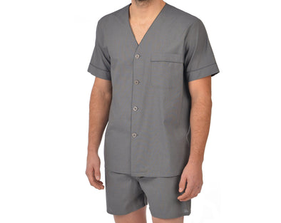 Majestic Shorty Pyjama - Charcoal - 3062042 020