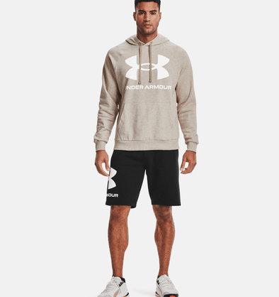 Under Armour Rival Fleece Big Logo Hoodie - Highland Buff - 1357093 200