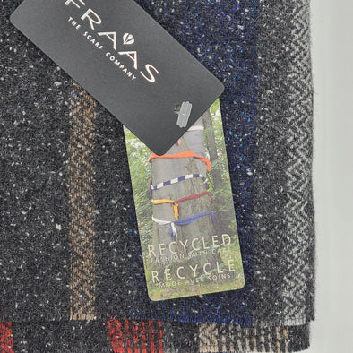 Fraas TH!NK ECO Wool Scarf - Charcoal - 311003 980