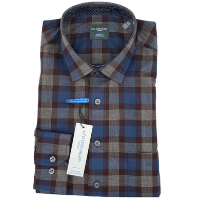 Leo Chevalier L/S Non-Iron Spread Collar Sport Shirt - 525471 1998
