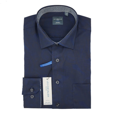 Leo Chevalier L/S Non-Iron Spread Collar Sport Shirt - 525450 1998