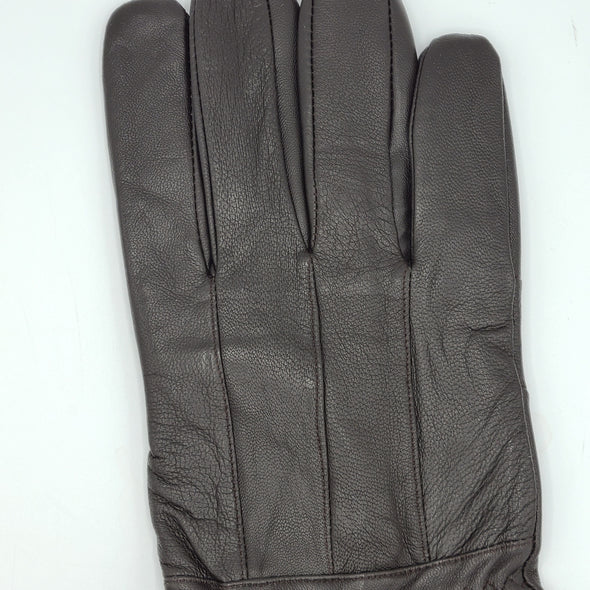 Albee Classic Leather Glove with Elastic Wrist - Black - 6629