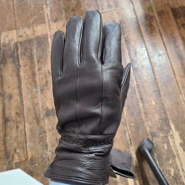 Albee Classic Leather Glove with Elastic Wrist - Brown - 6629