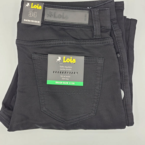 Lois Lined Brad Slim Jeans - 1136-7424-99 - Black