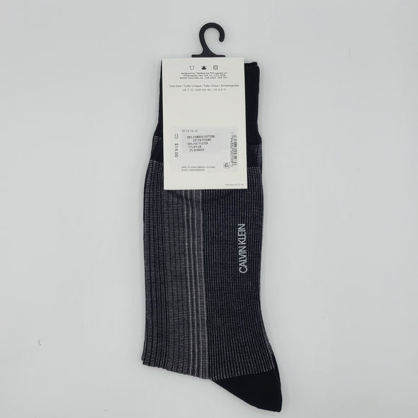 Calvin Klein Luxurious Cotton Sock - Black - CKM20DR05001