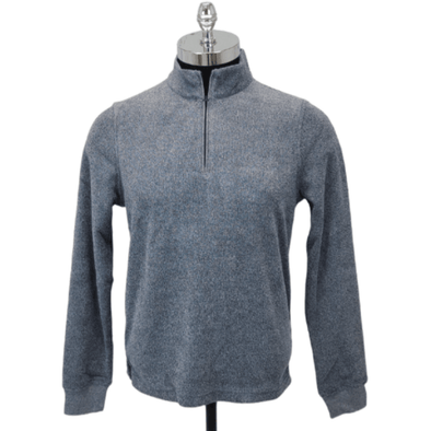 Borgo28 1/4 Zip Terry Sweater - Navy - BHF9K012 410