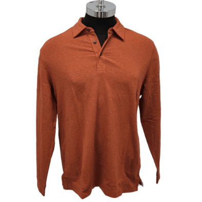 Borgo28 L/S Heather Jersey Polo - Rust - BHY0K902 222
