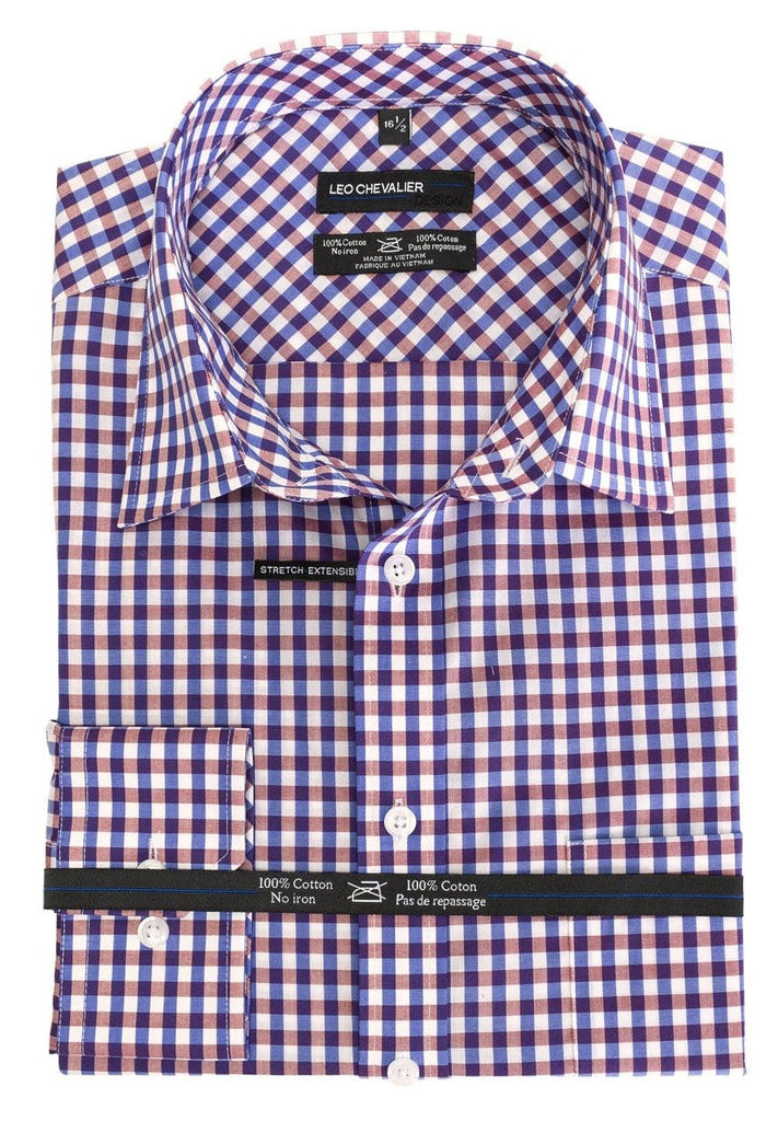 Bold Check Dress Shirt - Leo Chevalier