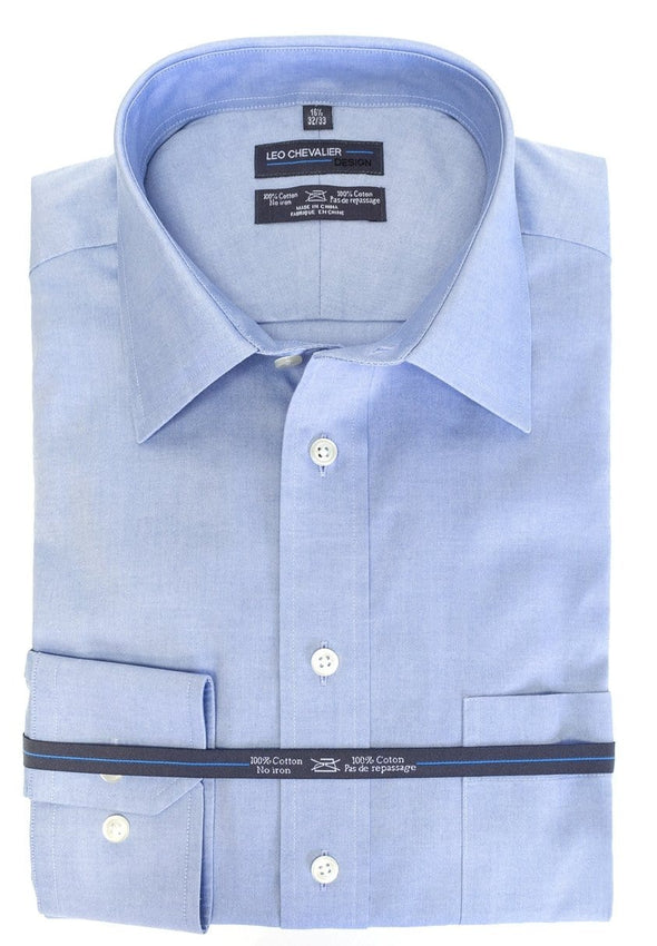 Leo Chevalier Dress Shirt regular and tall - 225170 Blue