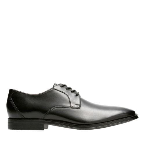 Clarks Gilman Lace Black Leather - 26127654