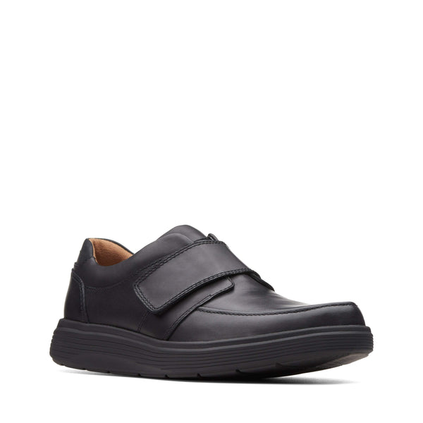 Clarks Un Abode Strap Black Leather