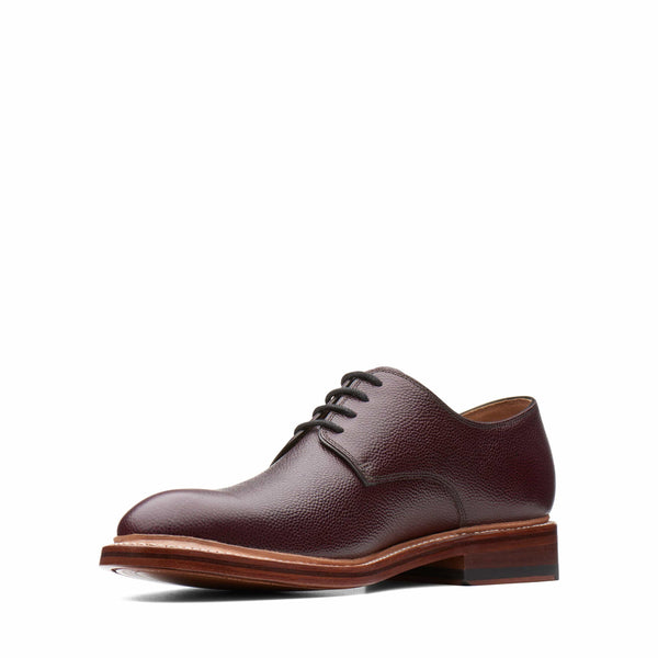 Bostonian Somerville Low 37092 Burgundy Tumbled Leather
