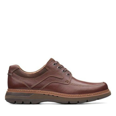 Clarks Un Ramble Lace Mahogany Leather | 26138187