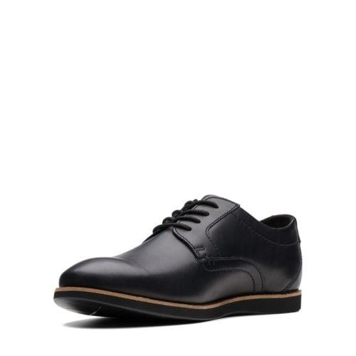 Clarks Raharto Plain Black Leather 26141580