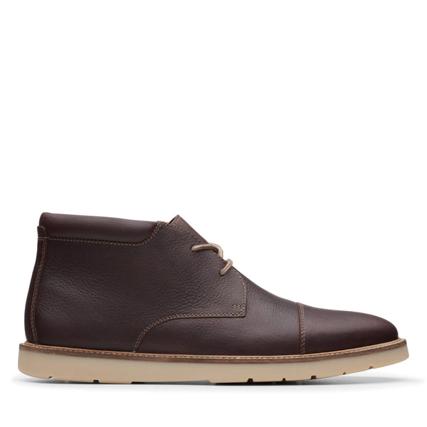 Clarks Grandin Top Dark Brown Tumbled - 26146390