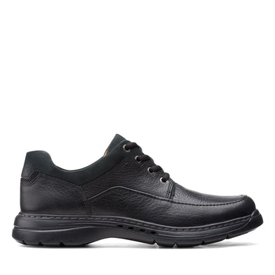 Clarks Un Brawley Lace-up Leather Shoe - Black