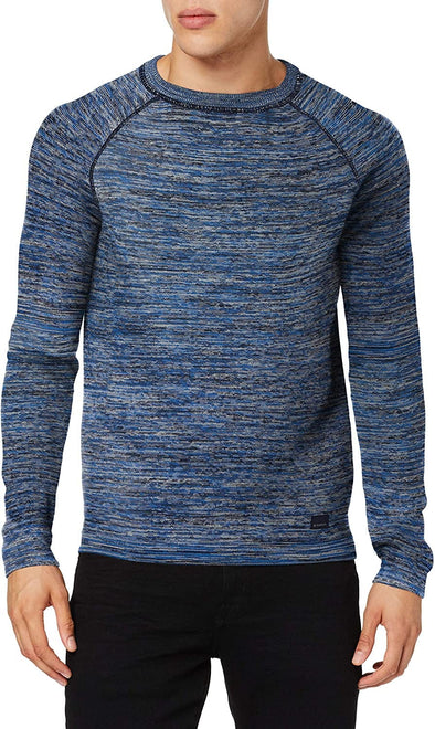 Garcia knit Space Dye Pullover - Baja Blue - GS910730 2824